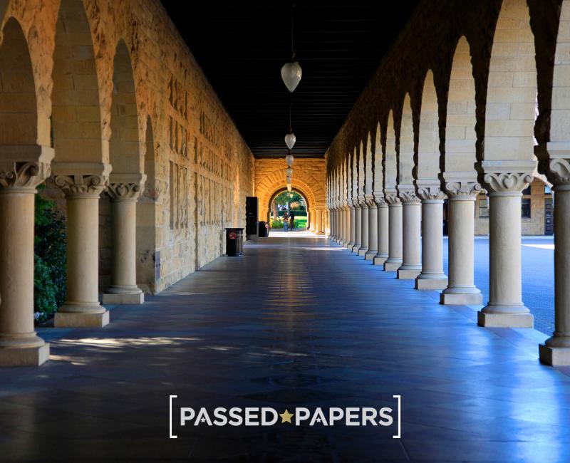 University application. Long hallway.