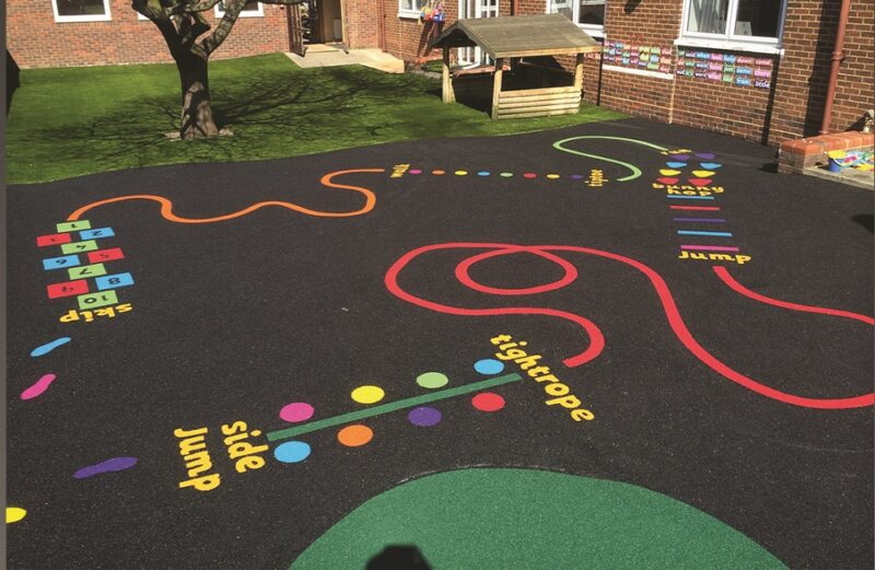 School grounds for better learning and teaching. Outside play area.
