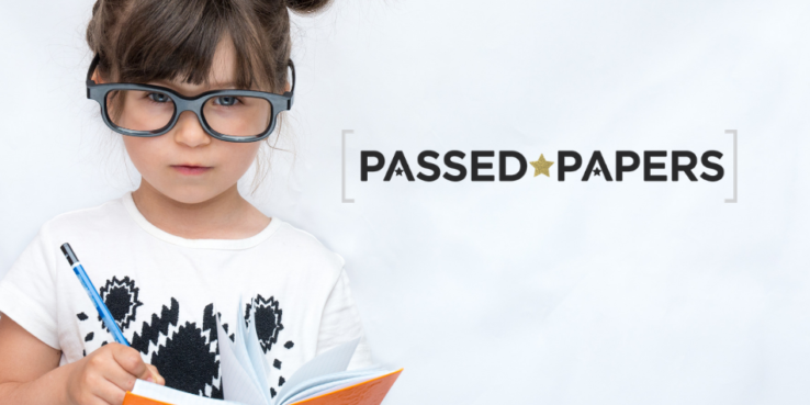 Set your child for career success. Girl with glasses and notebook