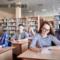 11 Plus Verbal Reasoning Test. Candidates writing test in exam venue