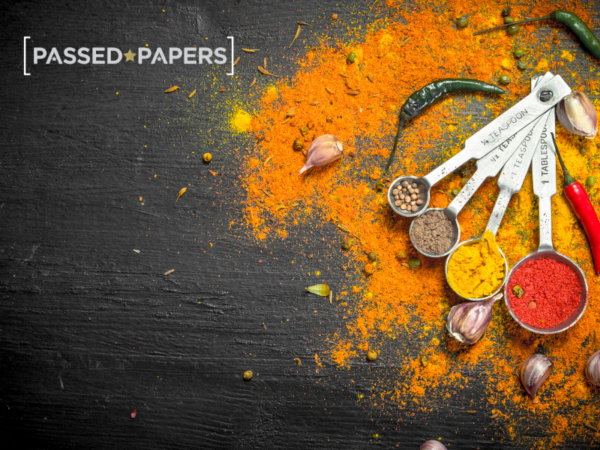 Measures with colourful spices using fractions.