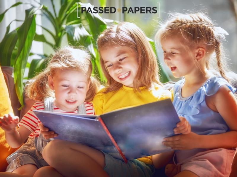 OLSAT practice tests children reading together
