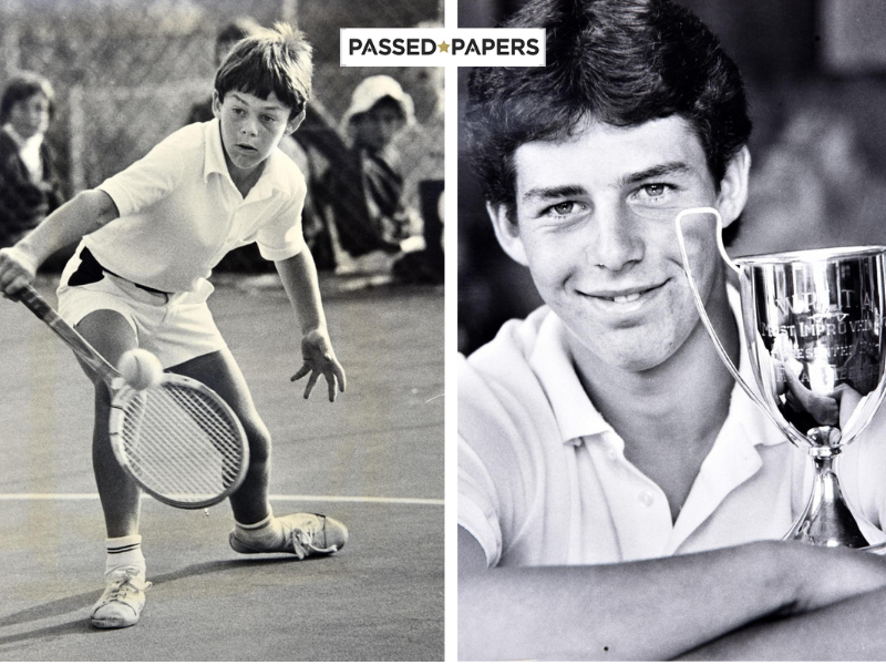 Marius Barnard as a child playing tennis and working on self-belief (1)