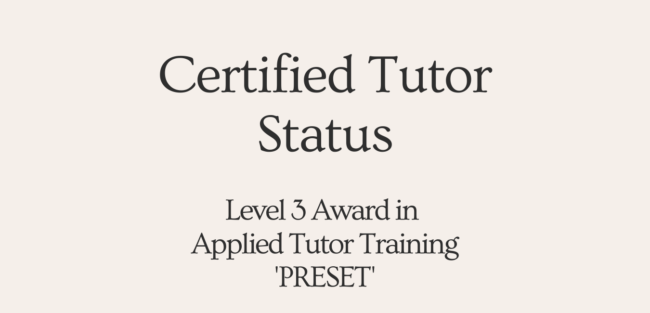 Certified tutor training