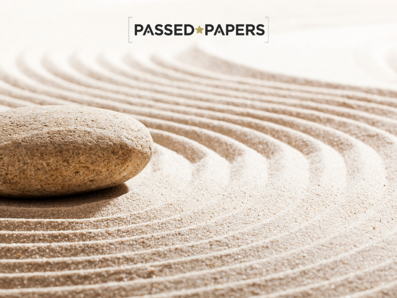Sand with patterns representing well-being