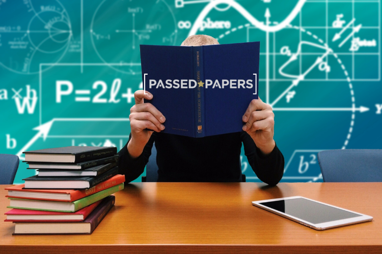 11 Plus Maths papers woman at desk